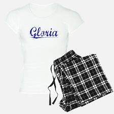 Gloria, Blue, Aged Pajamas