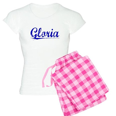 Gloria, Blue, Aged Women's Light Pajamas