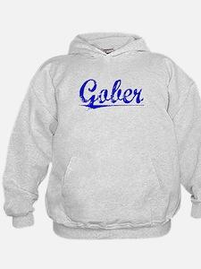 Gober, Blue, Aged Hoodie