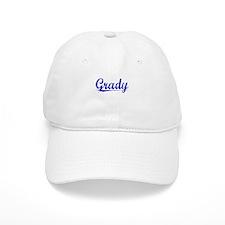 Grady, Blue, Aged Baseball Cap