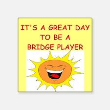 "BRIDGE.png Square Sticker 3"" x 3"""