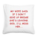 BRIDGE.png Square Canvas Pillow