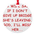 BRIDGE.png Round Ornament