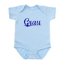 Grau, Blue, Aged Infant Bodysuit