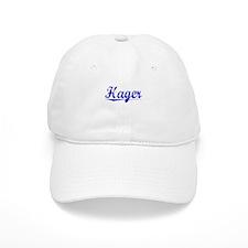 Hager, Blue, Aged Baseball Cap