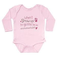 Kids Future Environmentalist Long Sleeve Infant Bo