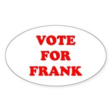 Vote For Frank Oval Decal