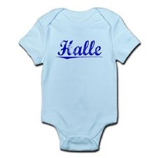 Halle, Blue, Aged Infant Bodysuit
