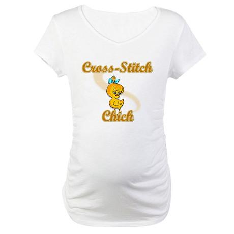 Cross-Stitch Chick #2 Maternity T-Shirt