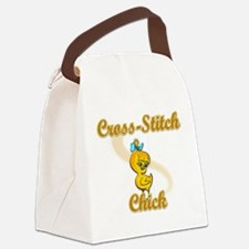Cross-Stitch Chick #2 Canvas Lunch Bag