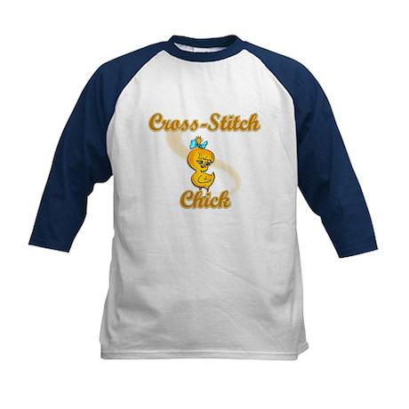 Cross-Stitch Chick #2 Kids Baseball Jersey