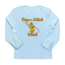 Cross-Stitch Chick #2 Long Sleeve Infant T-Shirt