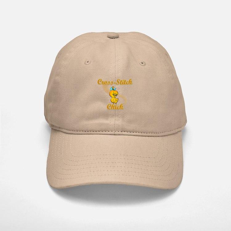 Cross-Stitch Chick #2 Baseball Baseball Cap