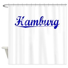 Hamburg, Blue, Aged Shower Curtain