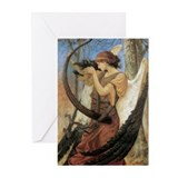 Fairy harp card Greeting Cards (10 Pack)