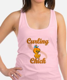 Curling Chick #2 Racerback Tank Top