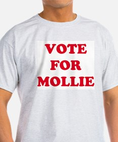 VOTE FOR MOLLIE Ash Grey T-Shirt