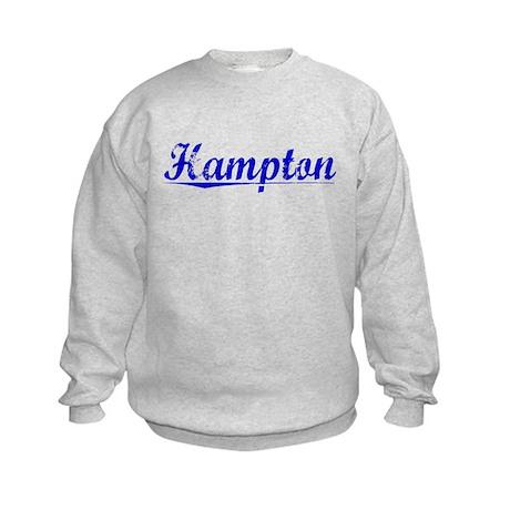 Hampton, Blue, Aged Kids Sweatshirt