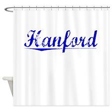 Hanford, Blue, Aged Shower Curtain