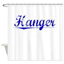 Hanger, Blue, Aged Shower Curtain