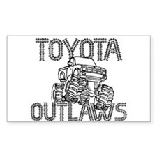 Toyota Outlaws Logo Decal