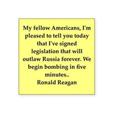 "reagan22.png Square Sticker 3"" x 3"""