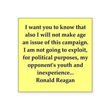 "reagan24.png Square Sticker 3"" x 3"""