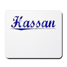 Hassan, Blue, Aged Mousepad