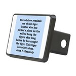 kennedy quote Rectangular Hitch Cover