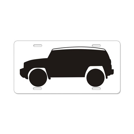 Toyota FJ Cruiser Outline Aluminum License Plate