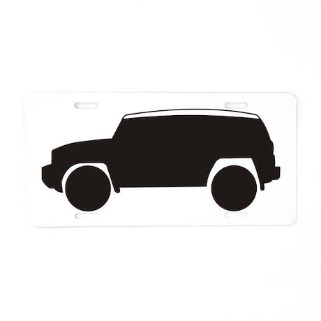 toyota fj cruiser outline aluminum license plate by fjcruiser1