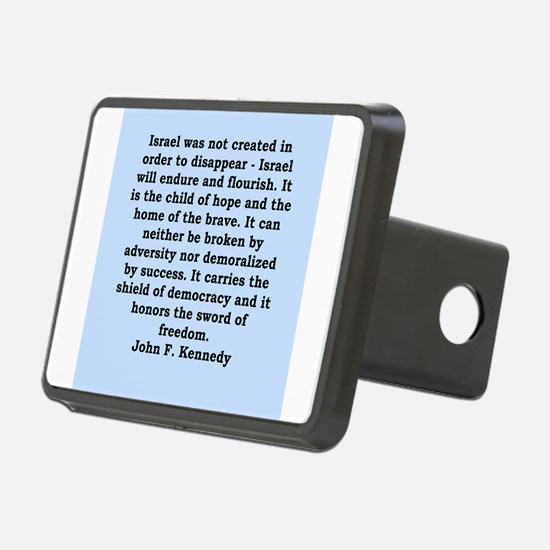 john f kennedy quote Hitch Cover
