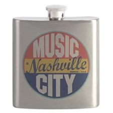 Nashville Vintage Label Flask