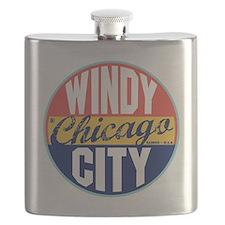 Chicago Vintage Label Flask