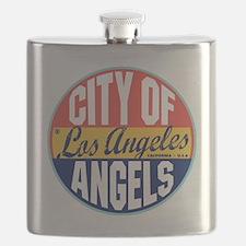 Los Angeles Vintage Label Flask