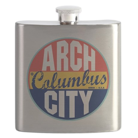 Columbus Vintage Label Flask