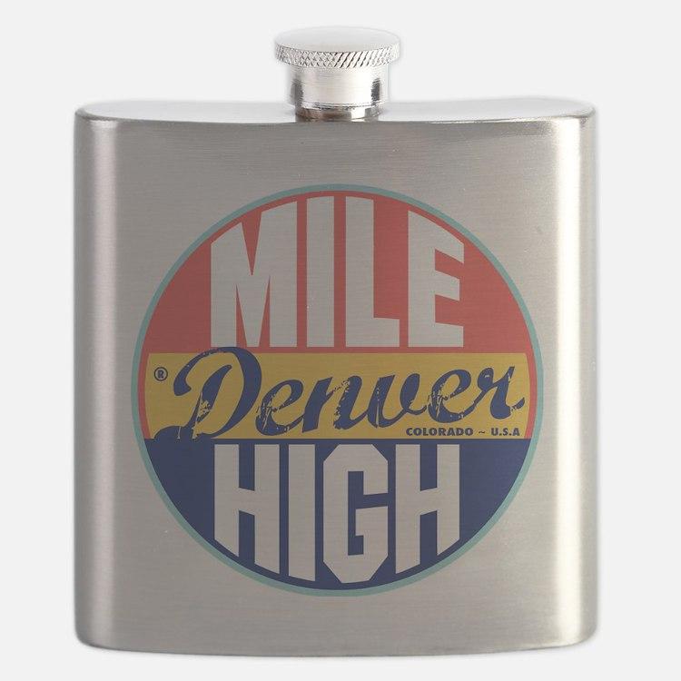 Denver Vintage Label Flask