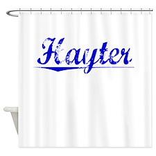 Hayter, Blue, Aged Shower Curtain