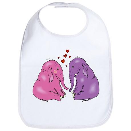 Elephants In Love Bib