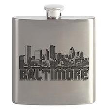 Baltimore Skyline Flask