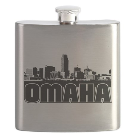 Omaha Skyline Flask