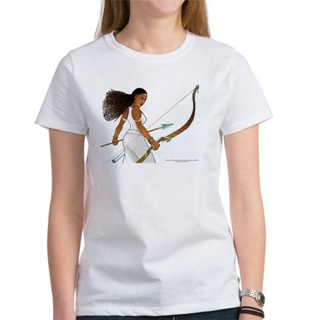 Nuhamin with Bow Arrow - white background Women's
