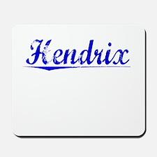 Hendrix, Blue, Aged Mousepad