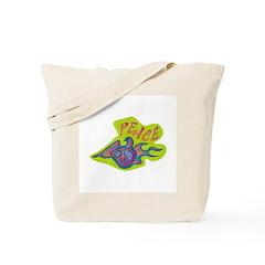 Retro Peace Dove Tote Bag