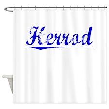 Herrod, Blue, Aged Shower Curtain