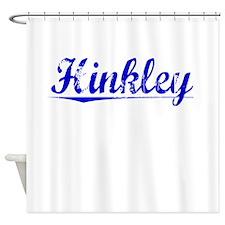 Hinkley, Blue, Aged Shower Curtain