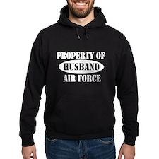 Property of Air Force Husband Hoodie