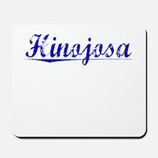 Hinojosa, Blue, Aged Mousepad
