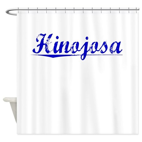 Hinojosa, Blue, Aged Shower Curtain