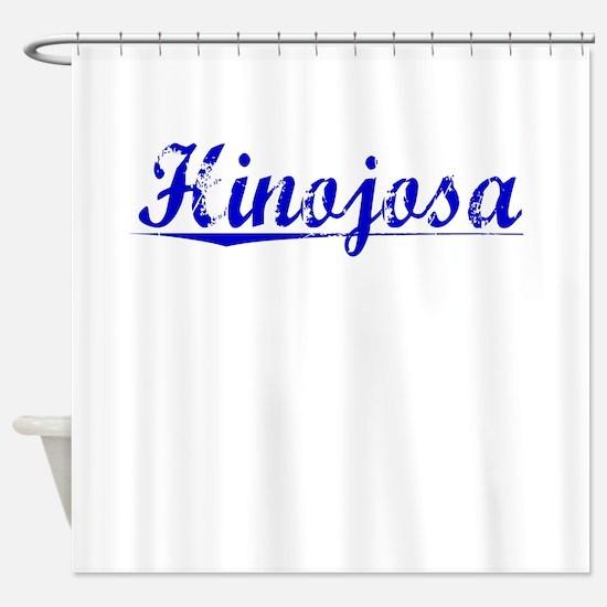 Hinojosa, Blue, Aged Shower Curtain